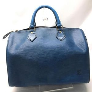 Louis Vuitton Blue Epi Toledo Speedy 30 234639